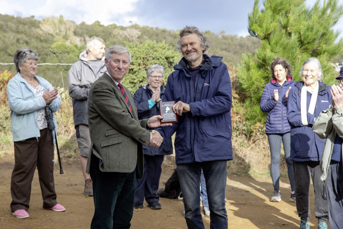 As well as opening the abattoir, Sir Ian presented a plaque on behalf of the people of Sark to John Robinson, a Sark resident, who was the engineer and project manager. It would not have happened without his expertise and enthusiasm and he did it unpaid. (Picture supplied by Sue Daly)