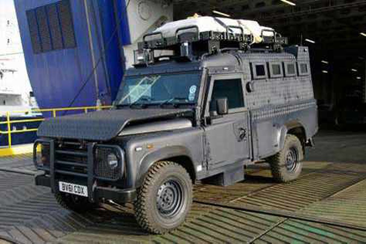 We face same threats as everywhere else, say police as armoured vehicle arrives