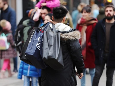 Consumers hit the shops – but weekend footfall down on last year