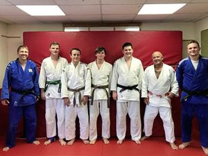 Pictured are the Judo team with manager/coach Eddie Mann, along with 6th Dan Oxford University coach Chris Doherty – funding from Generali went towards bringing him to Guernsey. Left to right are Mr Mann, Tom Barclay, Lewis Bourgaize, Howard Joyce, Peter Childs, Mr Doherty and Louis Plevin.		                             (24097855)