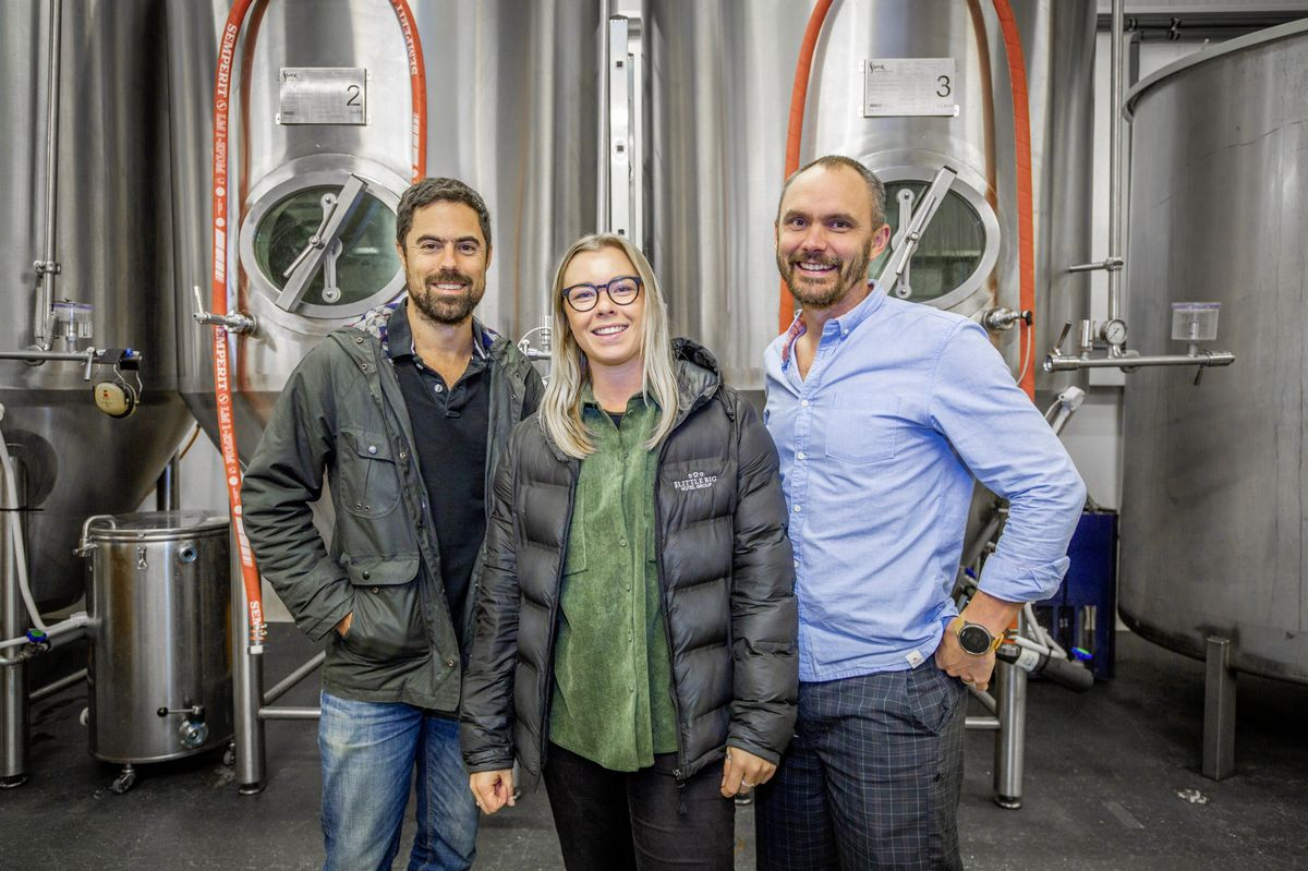 Little Big Brew Co Ltd has taken over the former White Rock Brewery in St George's Esplanade. Left to right, Simon De La Rue, Charlotte Walker and Gareth Chandler. (Picture by Sophie Rabey, 28766628)