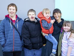 Left to right: Tim Evans, Yvette Le Roi, Fletch O'Hara with mum Helen O'Hara, and Georgie Le Pataroul. (Picture by Ben Fiore, 27397313)