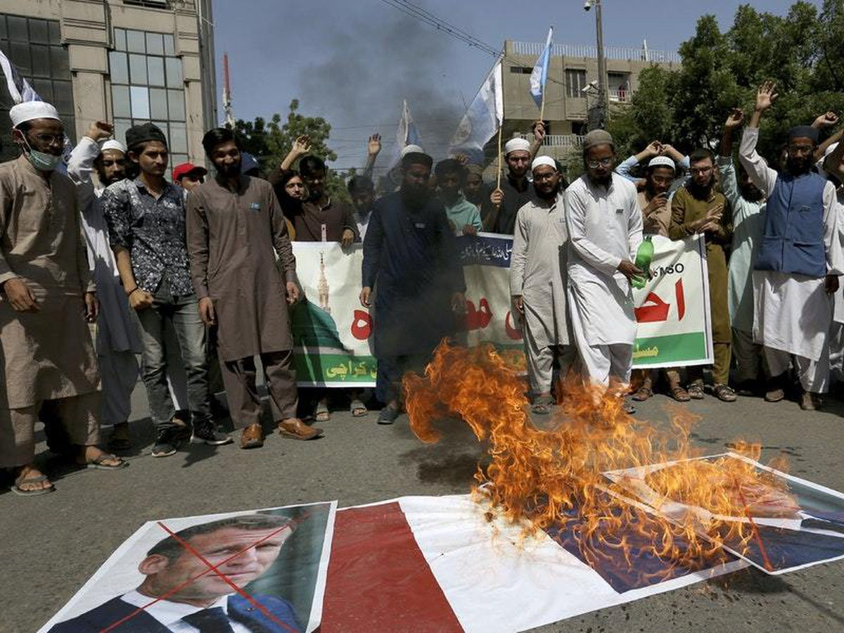Thousands across the Muslim world protest over French cartoons