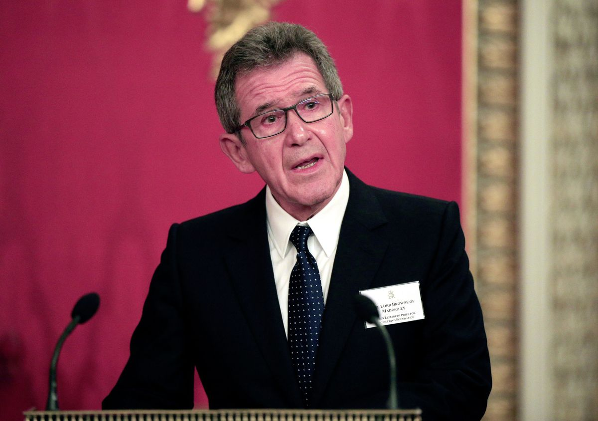 Huawei's UK chairman Lord Browne is to step down early. The news emerged as the UK Government is set to bar the Chinese tech giant from playing any role in Britain's 5G network. (Picture by PA)