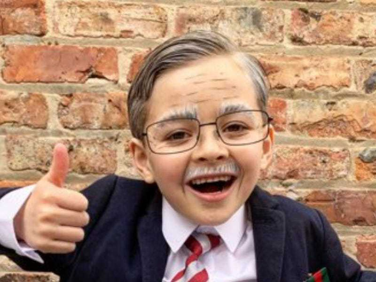 Six-year-old raises thousands by walking laps dressed as Captain Sir Tom Moore