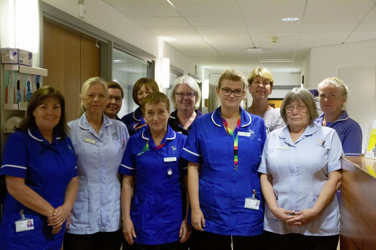Jo Boyd and Les Bourgs Hospice Nursing Team. (Picture by Cassidy Jones, 29879617)