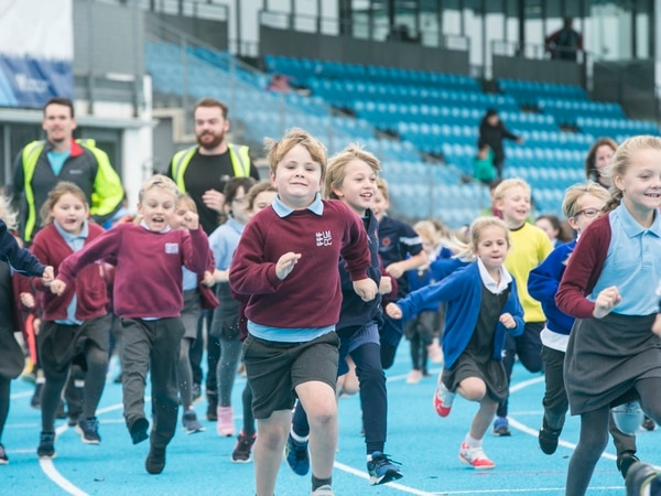 Pupils get on track for the daily mile at Footes Lane