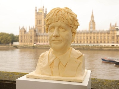 Breakfast or bust: Butter sculpture of Boris Johnson unveiled