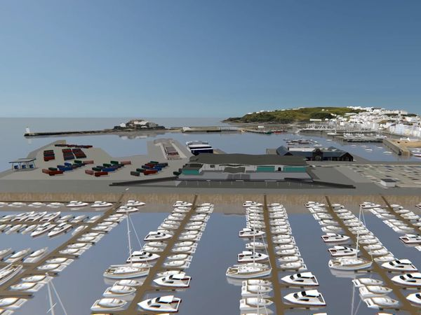 3D representation of the preferred option for the harbour redevelopment. Image supplied by STSB and Guernsey Ports. (29533159)