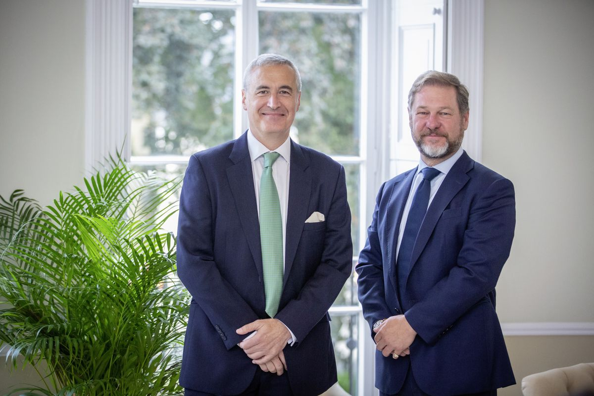 Left to right: Michael Betley, CEO of Trust Corporation and Nick Cawley, head of UK/Ireland and global private clients' service at Ocorian. (Picture By Peter Frankland, 29882150)