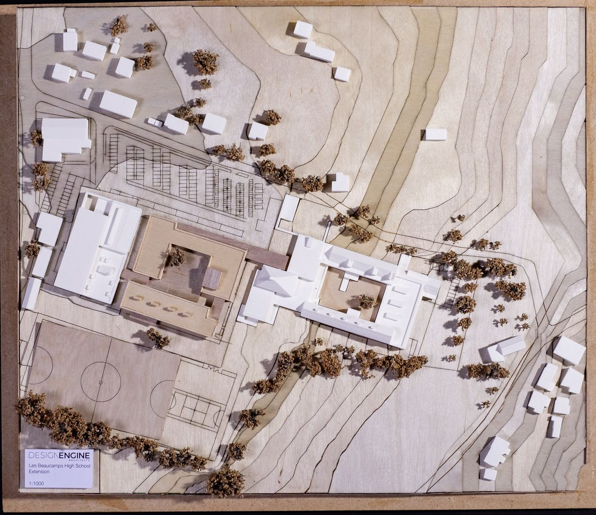 Picture supplied by Design Engine Architects for the expansion of Les Beaucamps High School.