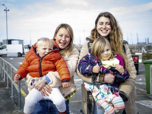 Reunited in the Bailiwick bubble with travel to Sark and the other islands of the Bailiwick allowed again. Ellie Clayton, right, with her daughter Nala, 3, came from Sark to visit her best friend Rosie O'Neale and her son Zion, 18 months. (Pictures by Sophie Rabey, 29360791)