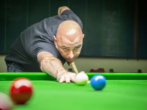 Picture by Sophie Rabey.  11-11-19.  Snooker at RAFA Club, The Sledgehammers Vs. Ex-Service Stunners.  Glen Le Prevost.. (29157738)
