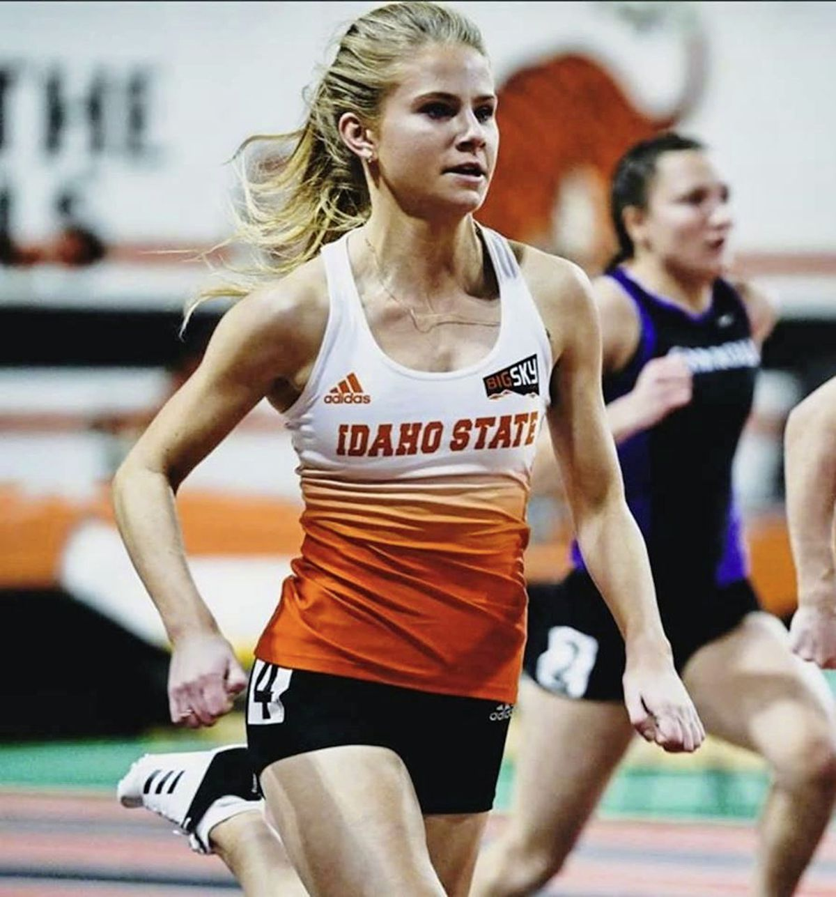 Guernsey sprinter Indi Gallagher competing for Idaho State University. (26894824)