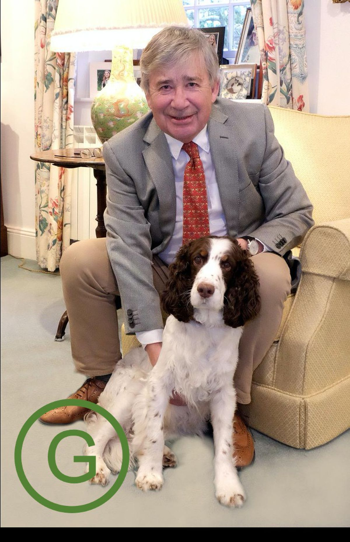 Deputy Dyke's election manifesto picture with his springer spaniel, Rosie, who sadly died recently.