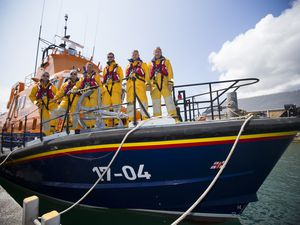 Crew of the RNLI aboard The Spirit of Guernsey. (Picture by Peter Frankland, 29609781)