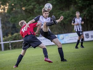 Picture By Sophie Rabey.  24-08-21.  Football Action at Blanche Pierre Lane, Saints v Rangers.. (29916226)