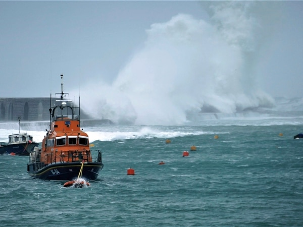 Alderney's breakwater takes another pounding