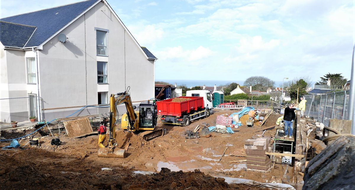 Construction work at the Connaught Care Home's extension. (Picture by David Nash, 29869152)