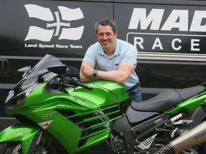 Zef Eisenberg and his 'sand racing' Kawasaki ZZR. This weekend he will be at Elvington again chasing records on his other 'Green Machine', a supercharged Suzuki Hayabusa that turns out 350hp. (Picture by Adrian Miller, 22529952)