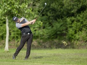 Ravenscroft Open Matchplay Final.Max Penney v Adam  Chapman.La Grande Mare Golf Club . Adam Chapman approach to the fourth.Picture by Martin Gray, 28-06-19. (25082997)