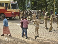 Protesters prevent women and girls from entering Indian temple
