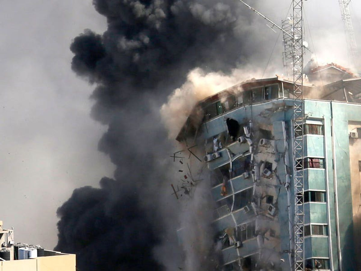 Israeli airstrike destroys Gaza building that housed media offices