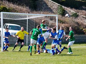 Semi-final Muratti action between Guernsey and Alderney at Mount Hale. Could they meet in the final this year if Jersey cannot compete?(29115149)