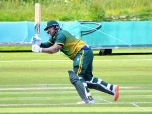 Cricket - Guernsey XI v Netherlands A in game two of their four-match T20 series at the KGV, 05-06-19. Ash Wright..Picture by Gareth Le Prevost. (25630761)