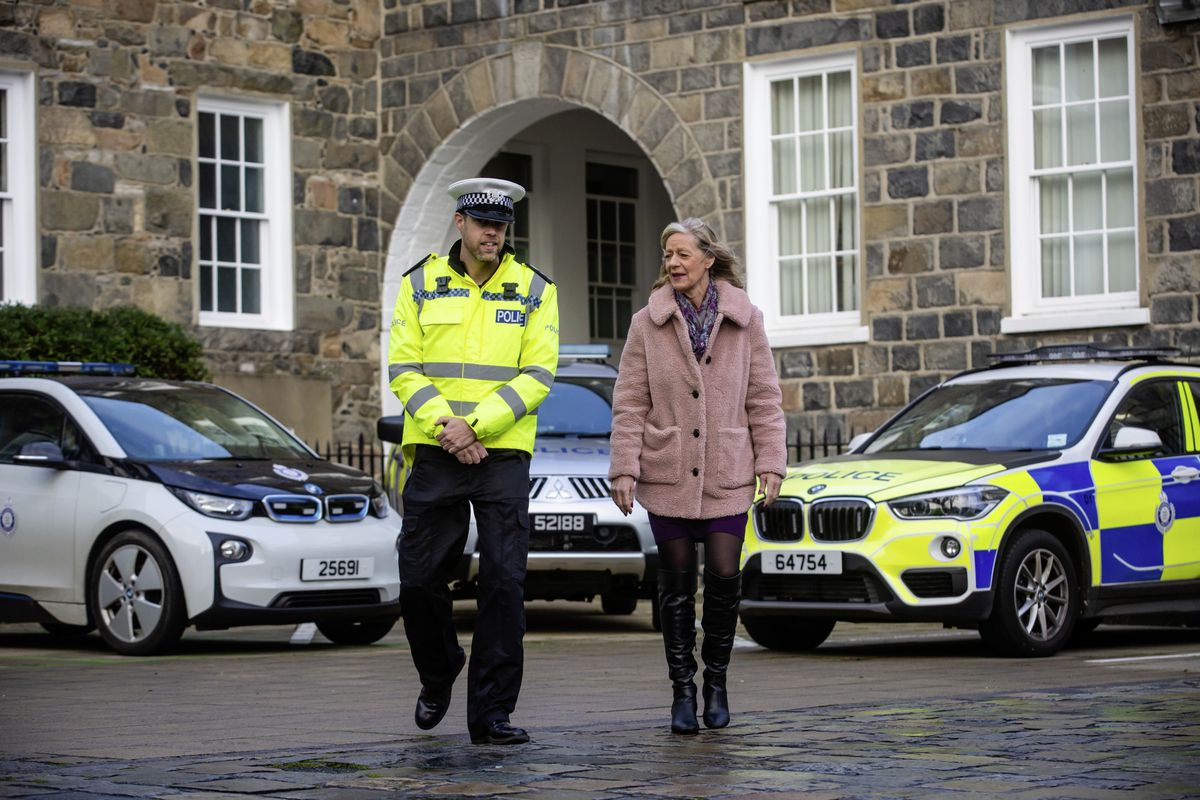 Inspector Thomas Marshall, who leads the Roads Policing Unit and Andrea Nightingale, Substance Use Lead for the Health Improvement Commission. (29015818)