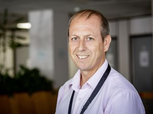 Picture By Sophie Rabey.  13-08-21.  Mark Ogier from The Office for Employment & Social Security (Edward T Wheadon House) has been nominated for a Pride of Guernsey 2021 Award.  Customer Service of the Year.. (29871872)