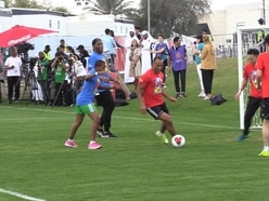 Drogba and Cafu go head-to-head in game with Special Olympics athletes
