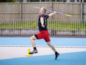 Picture By Sophie Rabey.  27-06-21.  Athletics Action - Footes Lane.  The javelin throw.. (29700615)