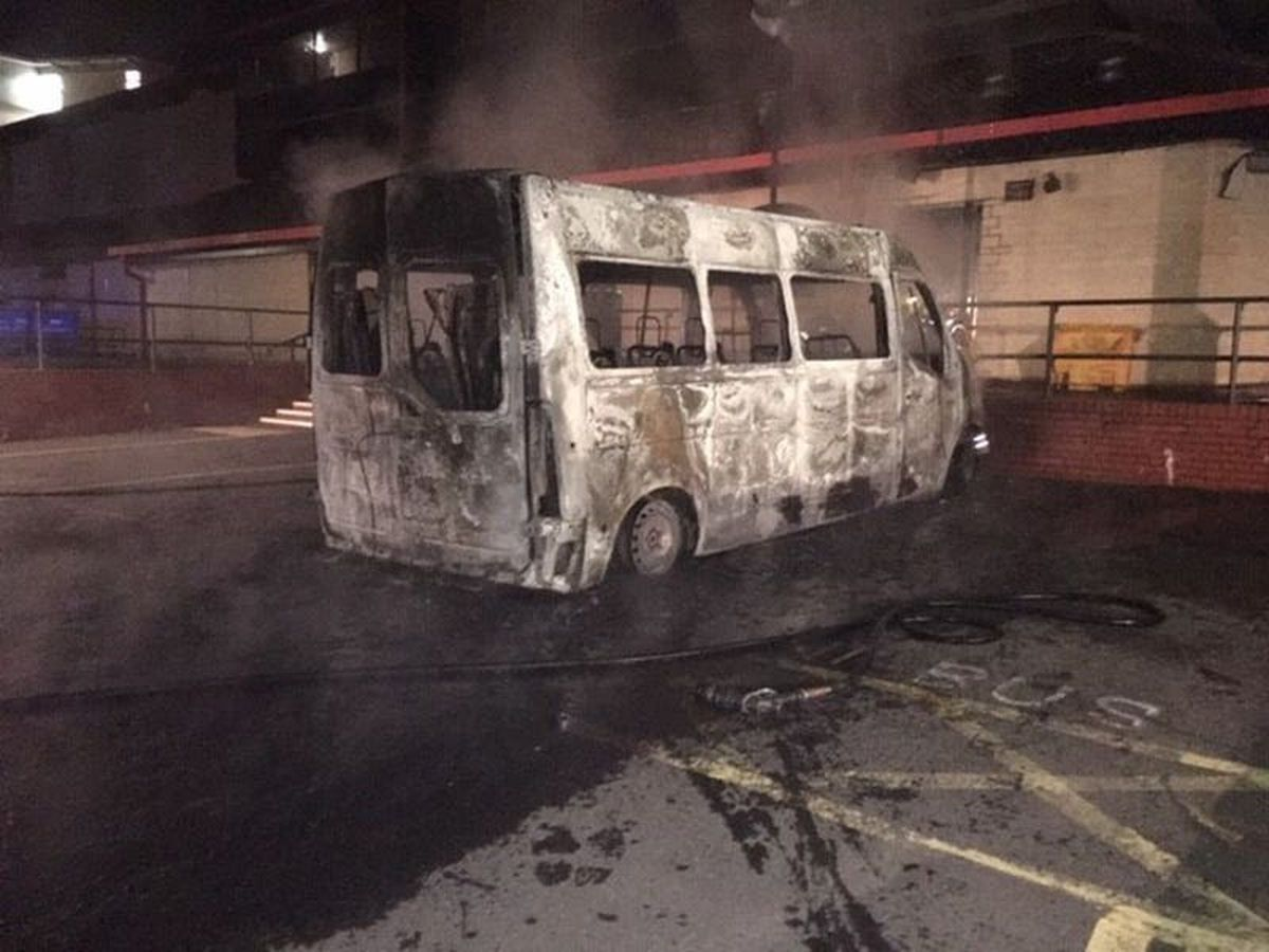 Bus and car destroyed in arson attacks