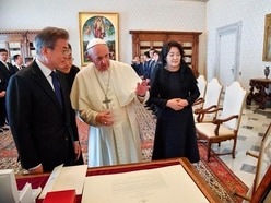 Pope Francis discusses possible North Korea trip and urges push for peace