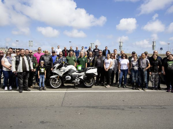 Around 100 Guernsey bikers ended a ride-out for one of their own, Zef Eisenberg, at the White Rock Cafe. (Picture by Cassidy Jones, 29824420)
