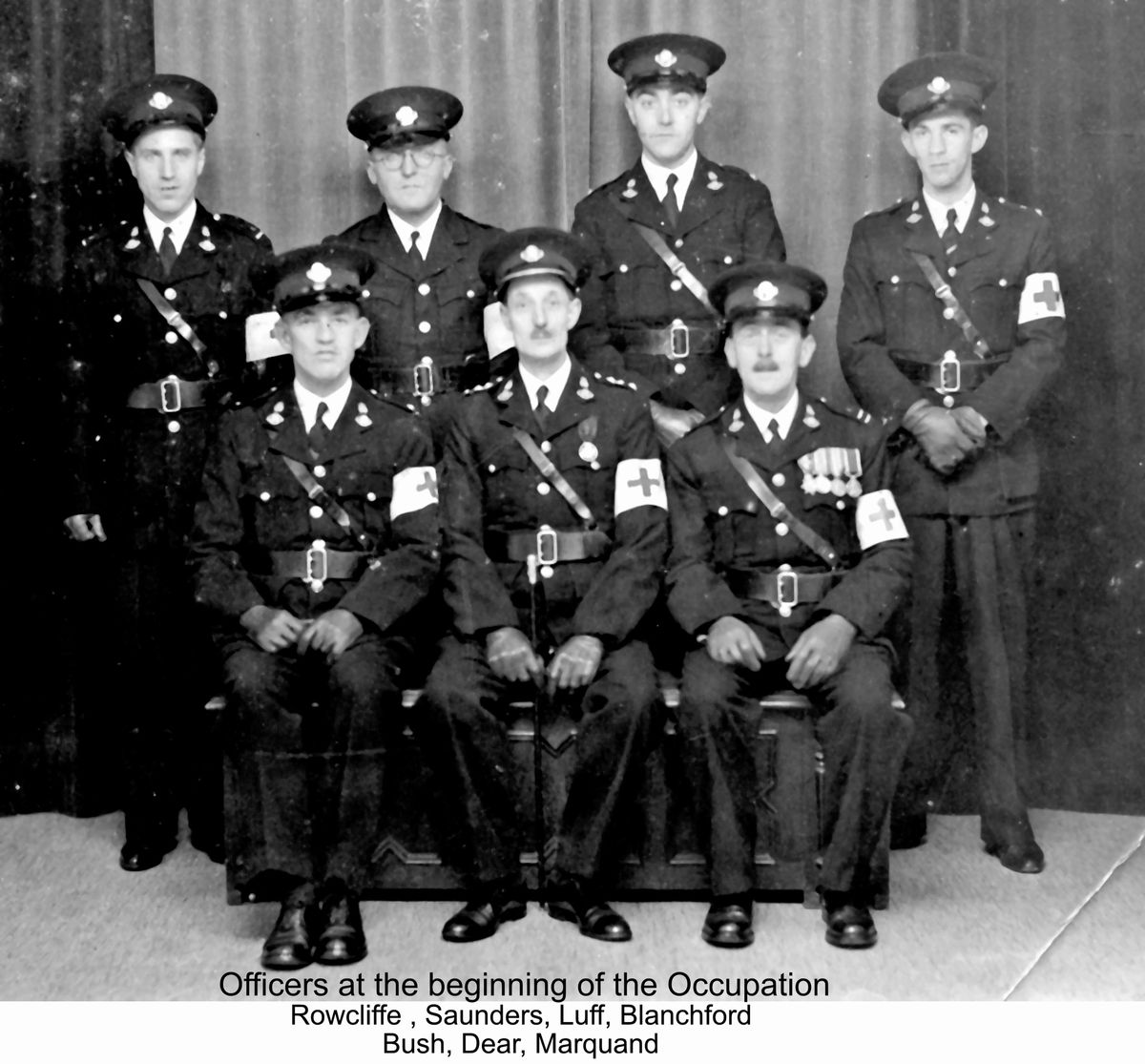 Brigade officers at the start of the occupation. (Picture copyright of Gary Blanchford )