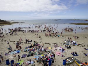 Rocquaine Regatta committee members abandoned entertainment on the road this year and held all events on the beach.(Pictures by Cassidy Jones, 29822233)