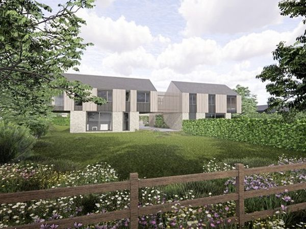 An artist's impression of what the new homes at Les Grais could look like.