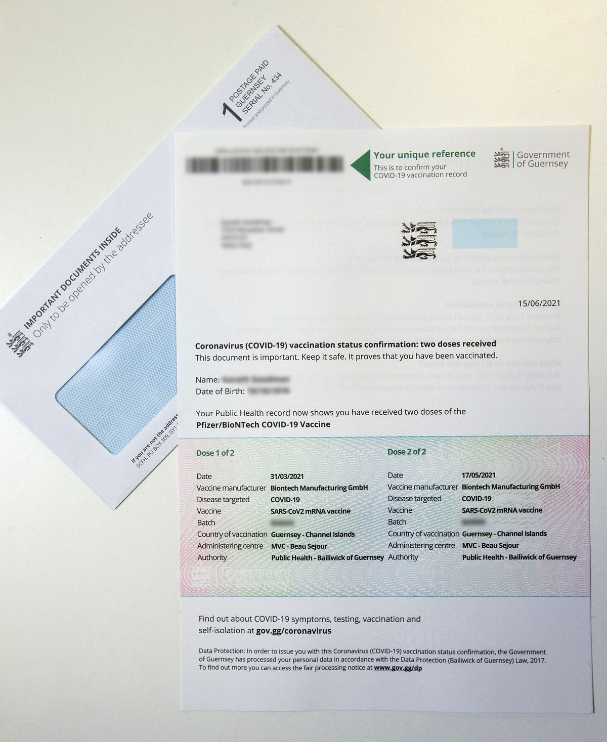 Vaccine status letters will be sent out by the states to all those who have had two doses of the Covid-19 vaccine. (Picture by Peter Frankland, 29689156)