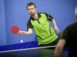 Picture by Sophie Rabey.  11-01-21.  Capelles Open Table Tennis Action.  Paul Hainsworth. (29101467)