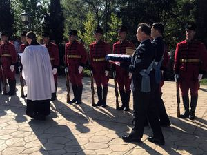 British serviceman killed in action in 1943 is laid to rest in Albania