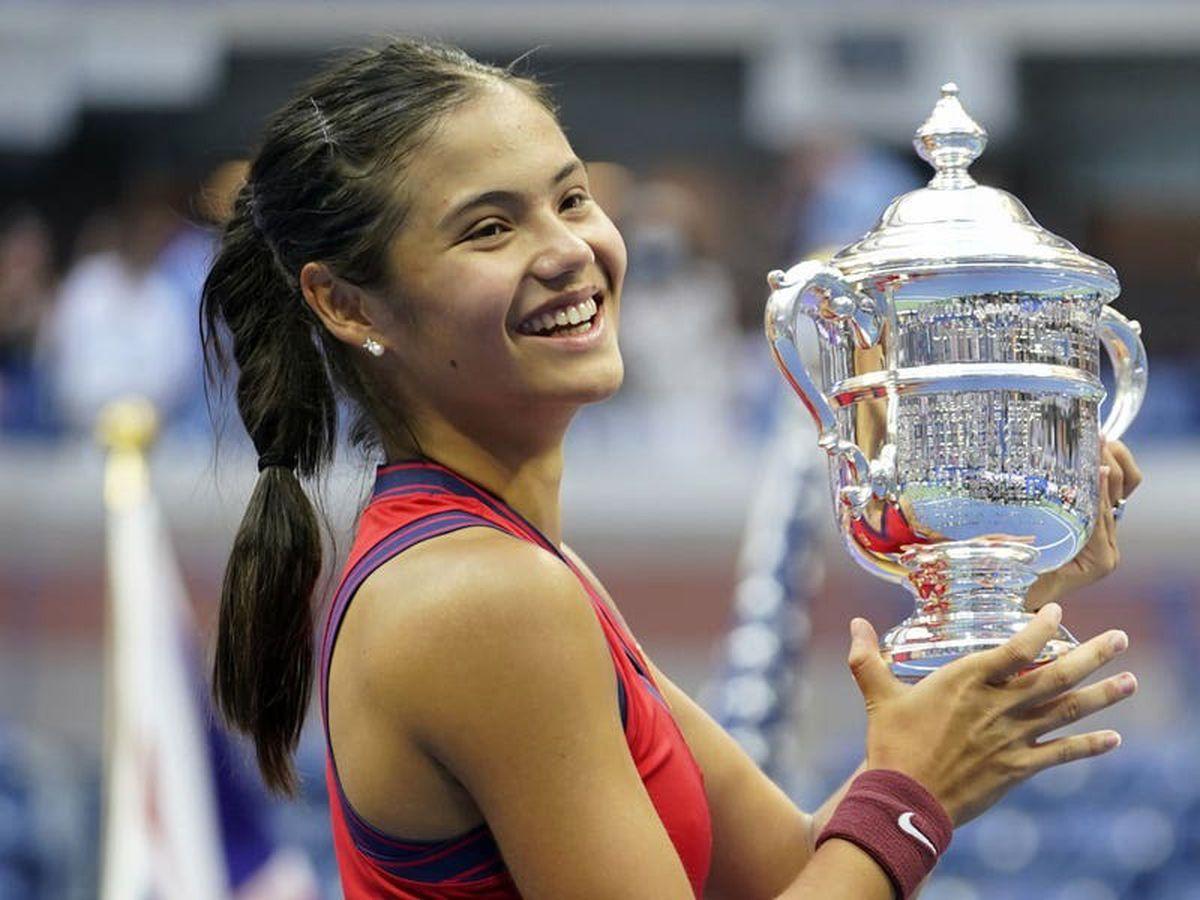 Emma Raducanu arrives back in the UK after winning the US Open