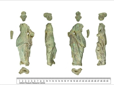 Minerva statue found in margarine tub among treasures discovered