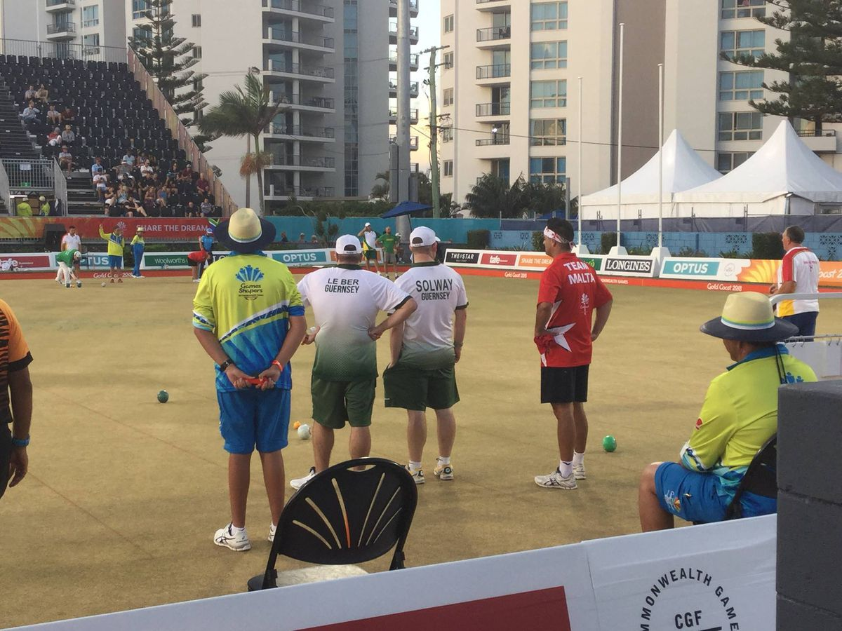 Guernsey bowlers competing at the Gold Coast 2018 Commonwealth Games. (30078613)