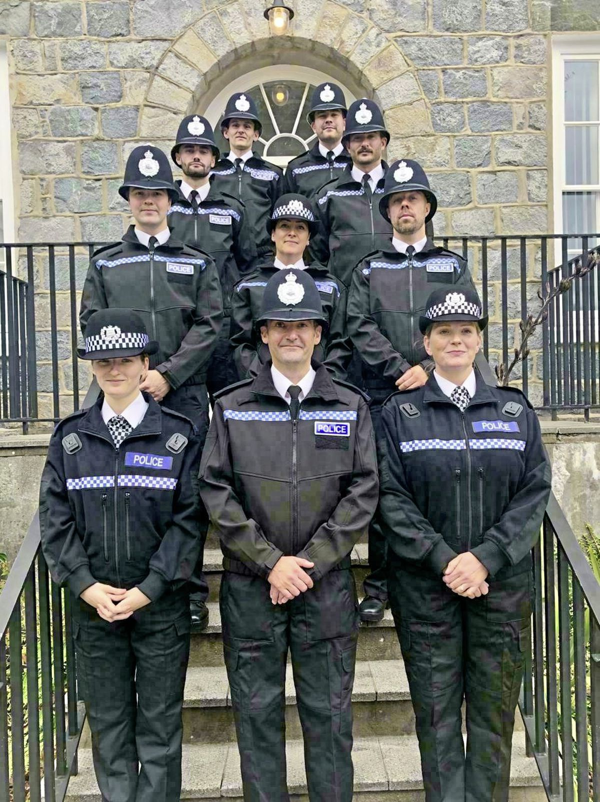 The 10 new police recruits taken on from nearly 40 applicants. (28854335)