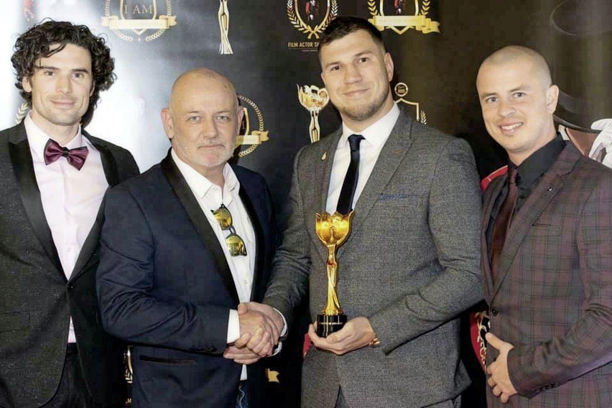 Pete Holland, Paul J Lane (Award Winning Film Director) Gaz Papworth (Man Down Film Director) Phil Surry (Man Club Guernsey) (26124415)