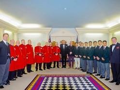 Chelsea Pensioners and Gurkhas at Freemasons' dinner