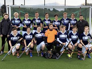 The East Harbour Elizabeth College first XI hockey squad 2017-18. Back row, left to right: Sam Ferry, Don Harty, Nairn Guilbert (captain), Hugo Thompson, Sam Hodgson, Tom Cashin, Jonty Carnachan, Justin Maynard and Rick Gomes of sponsor East Harbour. Front row: Josh Pipe, Max Sharpe, Kit Inderwick, Sammy Fowler, Nick Hodgson, Ross Guilbert and Lewis Perfitt. Miles Hardill was unavailable for the picture.