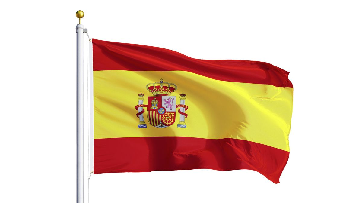 Spain flag waving (29295512)